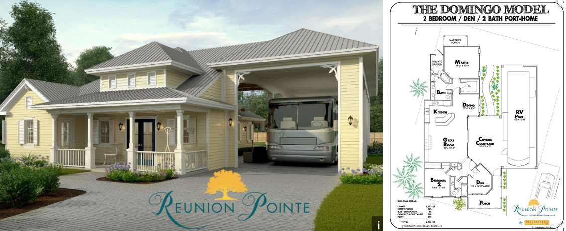 Rv port home floor plans for Rv port designs